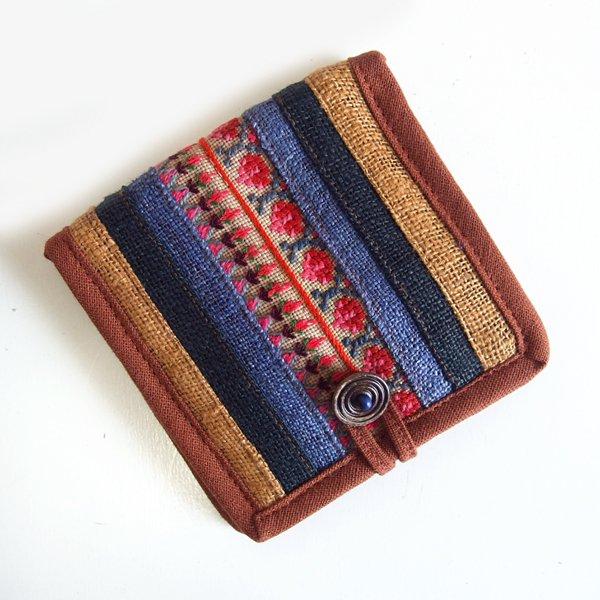 モン族手刺繍 二つ折り財布 53f