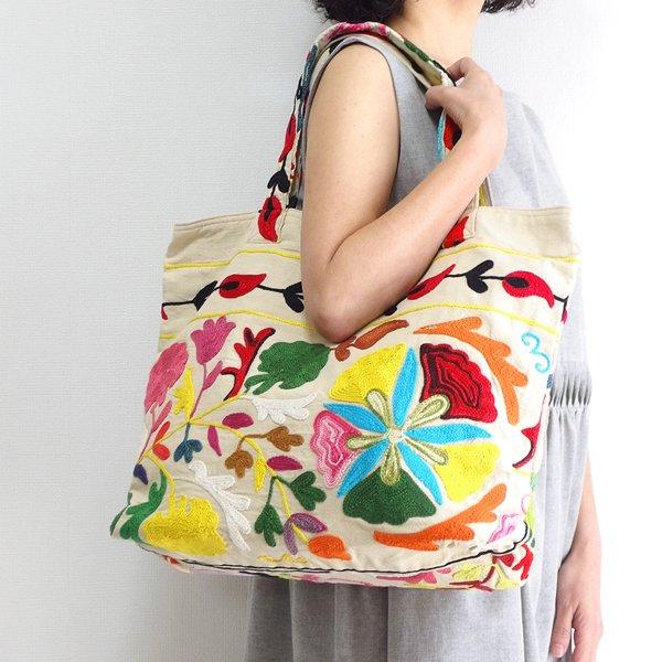 various shop スザンニ刺繍 トートバッグ 916