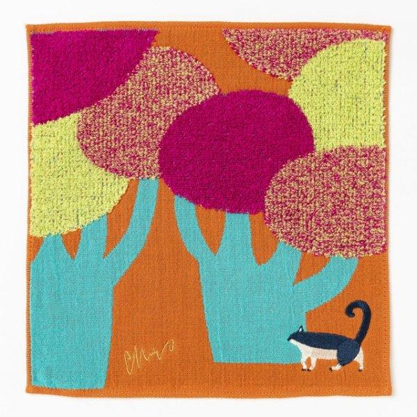 morita MiW ガーゼ・パイルハンカチ ネコと大きな街路樹 (歩く仔シリーズ)