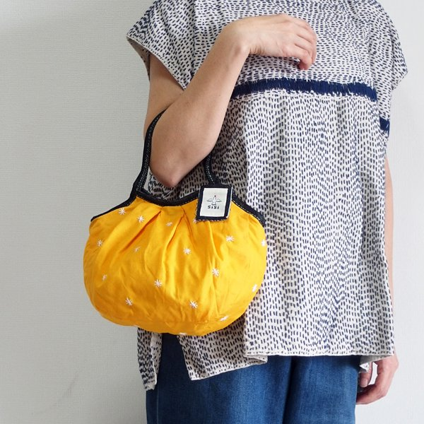 sisi ミニサイズグラニーバッグ 刺繍 オレンジ