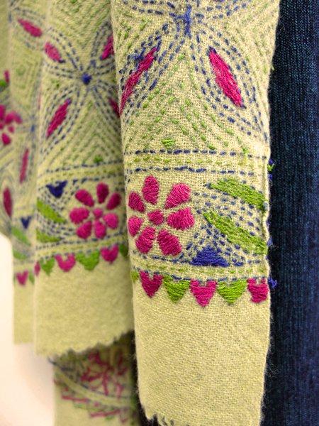 手刺繍 天然素材 ショール ストール マフラー