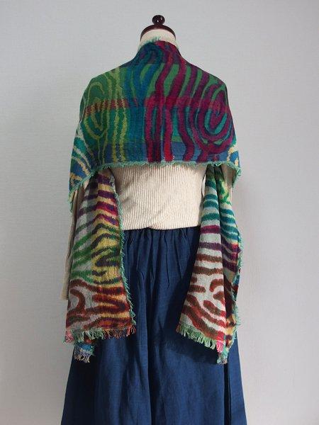 手刺繍 天然素材 ショール ウール100%ストール マフラー