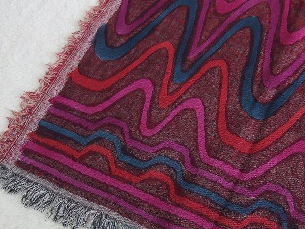 手刺繍 天然素材 コットンウール ショール ストール マフラー