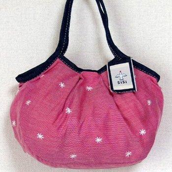 sisi ミニサイズグラニー 刺繍 ピンク