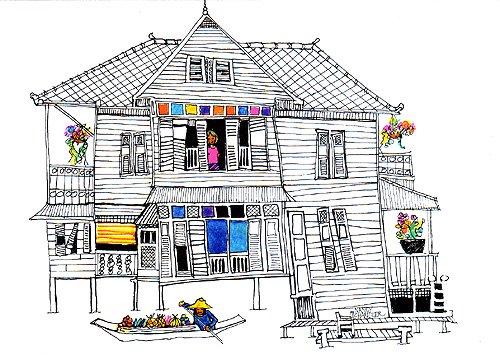 ナンシーチャンドラー グリーティングカード Lサイズ クローンサイドハウス