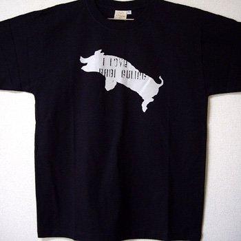 バリ島Tシャツ メンズ アイラブバビグリン ブラック