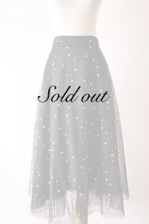 <img class='new_mark_img1' src='//img.shop-pro.jp/img/new/icons14.gif' style='border:none;display:inline;margin:0px;padding:0px;width:auto;' />Double tulle embroidery dot skirt