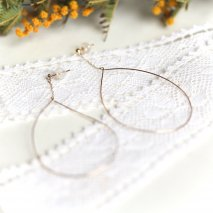 Drop Hoop Pierce | K10YG