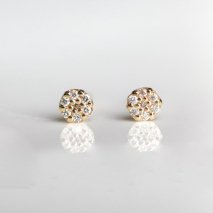 Pave Diamond Round Pierce | K18