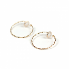 Twisted Hoop Earring | K10YG