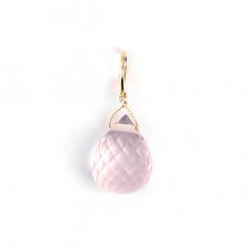 Rose Quartz Charm | K10YG