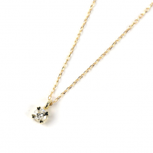 Diamond Necklace 0.08ct | K10YG