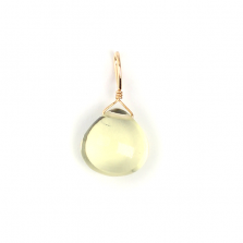 Honey Quartz Charm | K10YG