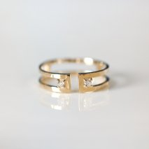 Diamond Open Band Ring | K10YG