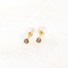 Champagne Diamond Pierce | K18