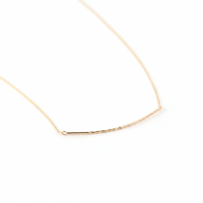 Tiny Line Necklace | K10YG