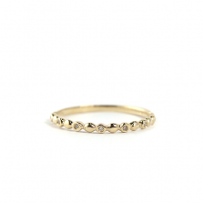 Dot Line Ring | K10YG