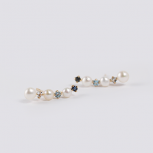 Blue Stone & Pearl Pierce | K10YG