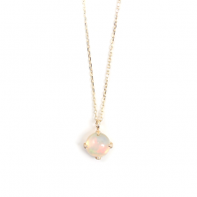 Round Opal Necklace | K10YG