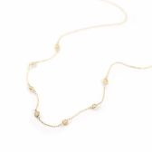 Opal Station Necklace | K10YG