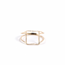 Square Wired Ring | K10YG