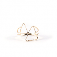 Triangle Wired Ring | K10YG
