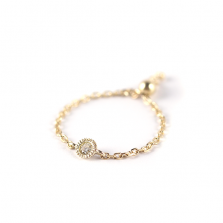 Round Diamond Chain Ring | K10YG