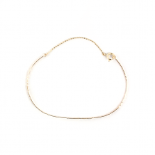 Textured Bangle with Chain | K10YG