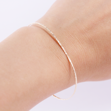 Textured Bangle | K10YG