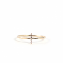 Diamond Line Ring | K10YG