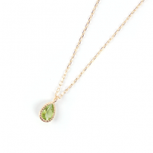 Peridot Necklace | K10YG