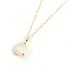 Drop Opal Necklace | K10YG