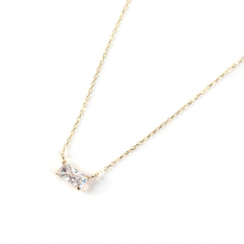 SWAROVSKI Baguette Necklace | K10YG