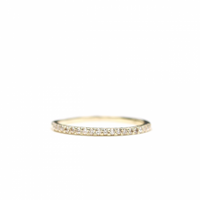 Diamond Half Eternity Ring | K10YG