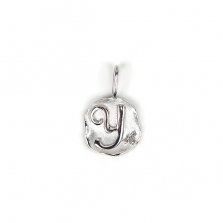 White Gold Initial Charm【Y】 | K10WG