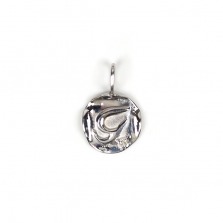 White Gold Initial Charm【T】 | K10WG
