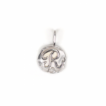 White Gold Initial Charm【R】 | K10WG
