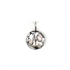 White Gold Initial Charm【M】 | K10WG