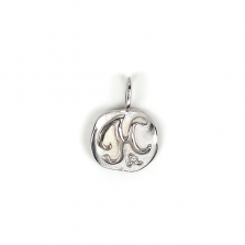 White Gold Initial Charm【H】 | K10WG