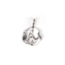 White Gold Initial Charm【A】 | K10WG