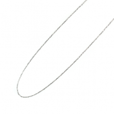 White Gold (Silver Color) Chain 40cm | K10WG