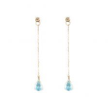 Sky Blue Topaz Pierce Catch | K10YG
