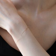 Sideways Bar Bracelet | K10YG