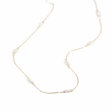 Pearl Station Necklace | K10YG