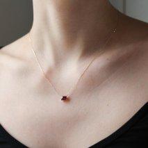 Rhodolite Garnet Necklace | K10YG