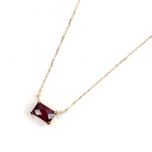 Load light garnet Necklace | K10YG