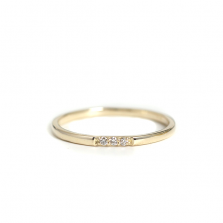 Triple Diamond Stack Ring | K10YG