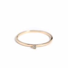 Diamond Stack Ring | K10YG