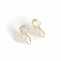 Drop Opal Earring  | K10YG