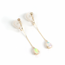 Opal Chain Earring | K10YG<img class='new_mark_img2' src='//img.shop-pro.jp/img/new/icons57.gif' style='border:none;display:inline;margin:0px;padding:0px;width:auto;' />